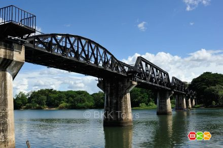 The famous Bridge over the River Kwai. Visit it on our private tour from Bangkok to Kanchanaburi.