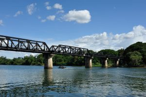 Visit Bridge on the River Kwai on a tour from Bangkok to Kanchanaburi. The bridge is part of the infamous Death Railway constructed during 2nd World War.