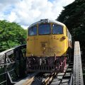A train passing through the Bridge over the River Kwai