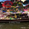A boat selling souvenirs at Damnoen Saduak floating market