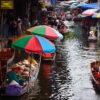 Various souvenirs available at Damnoen Saduak floating market