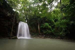 Visit Erawan waterfalls on a tour from Bangkok to Kanchanaburi. Enjoy a nice nature walk to reach the 7th level, some levels are great for a swim too.