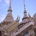 Traditional Thai architectural features with Chinese influence at Wat Phra Kaew
