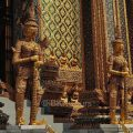Traditional Thai architectural features at Wat Phra Kaew