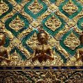 Traditional Thai architectural feature at Wat Phra Kaew