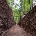 Hellfire Pass was built using simple tools by allied soldiers during World War II