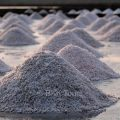 Salt farms after sea water has evaporated