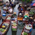 One of the last remaining traditional floating markets in Thailand