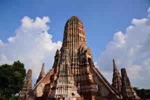 Wat Chai Wattanaram temple ruin in Ayutthaya