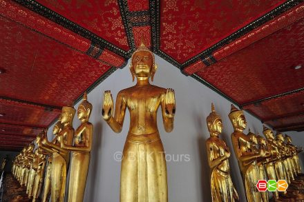 Buddha images at Wat Pho, temple of the Reclining Buddha