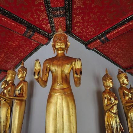 Buddha images at Wat Pho (Temple of the Reclining Buddha)